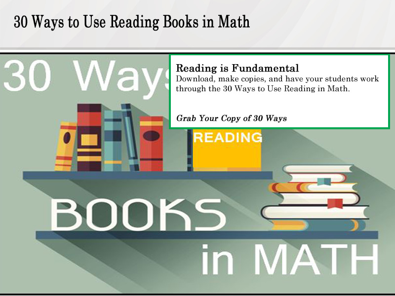 30 Ways to Use Reading Books in Math