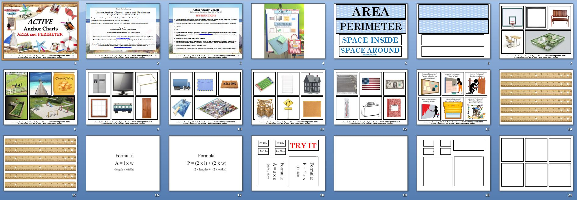 Active Anchor Chart Area And