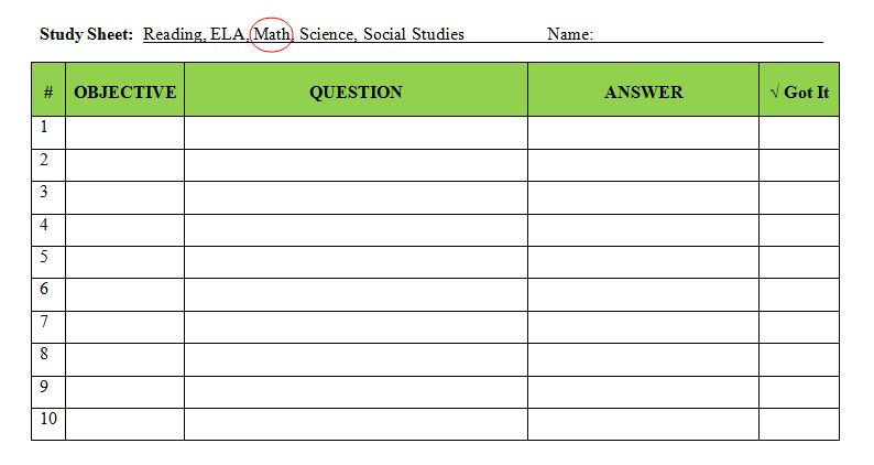 8 steps for using study sheets to get your students ready for the test