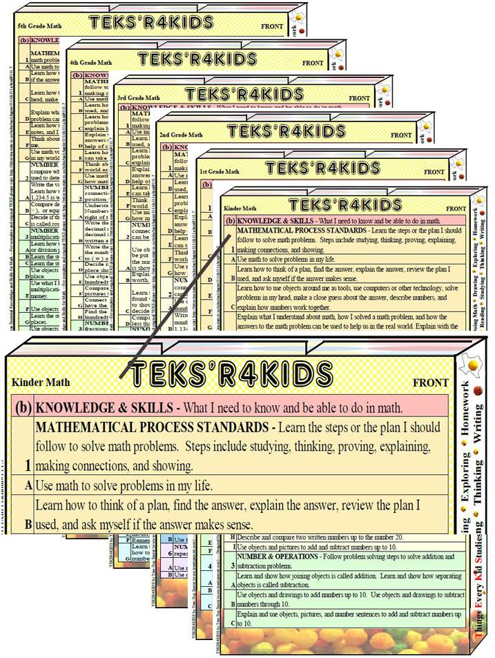 TEKS\'R4KIDS Math - Kinder Instant Download - TreeTopSecret Education