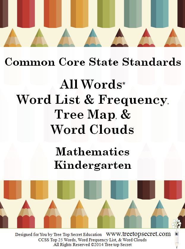 Instant Download: CCSS All Words List and Frequency - Math Kinder ...