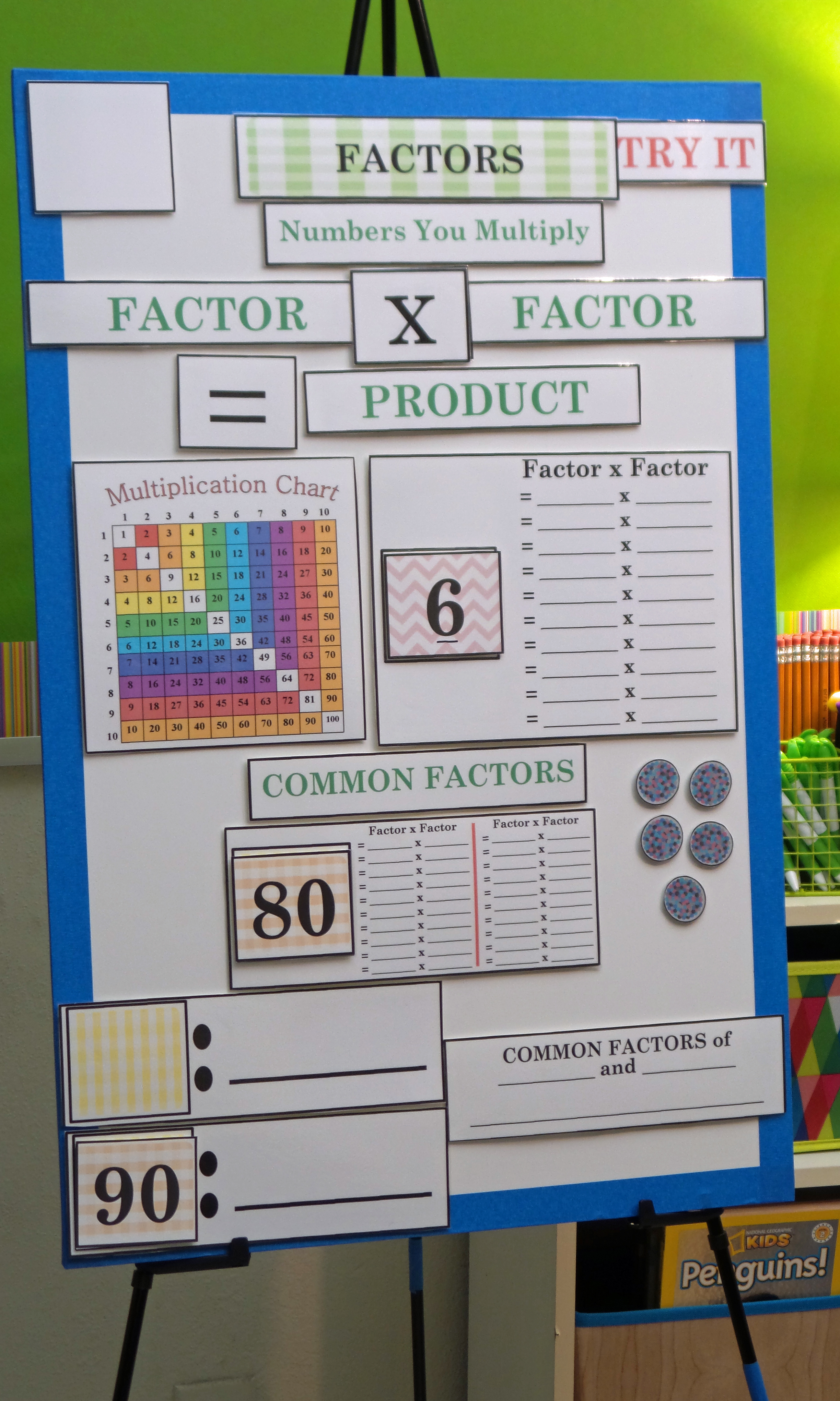 active anchor charts math bundle