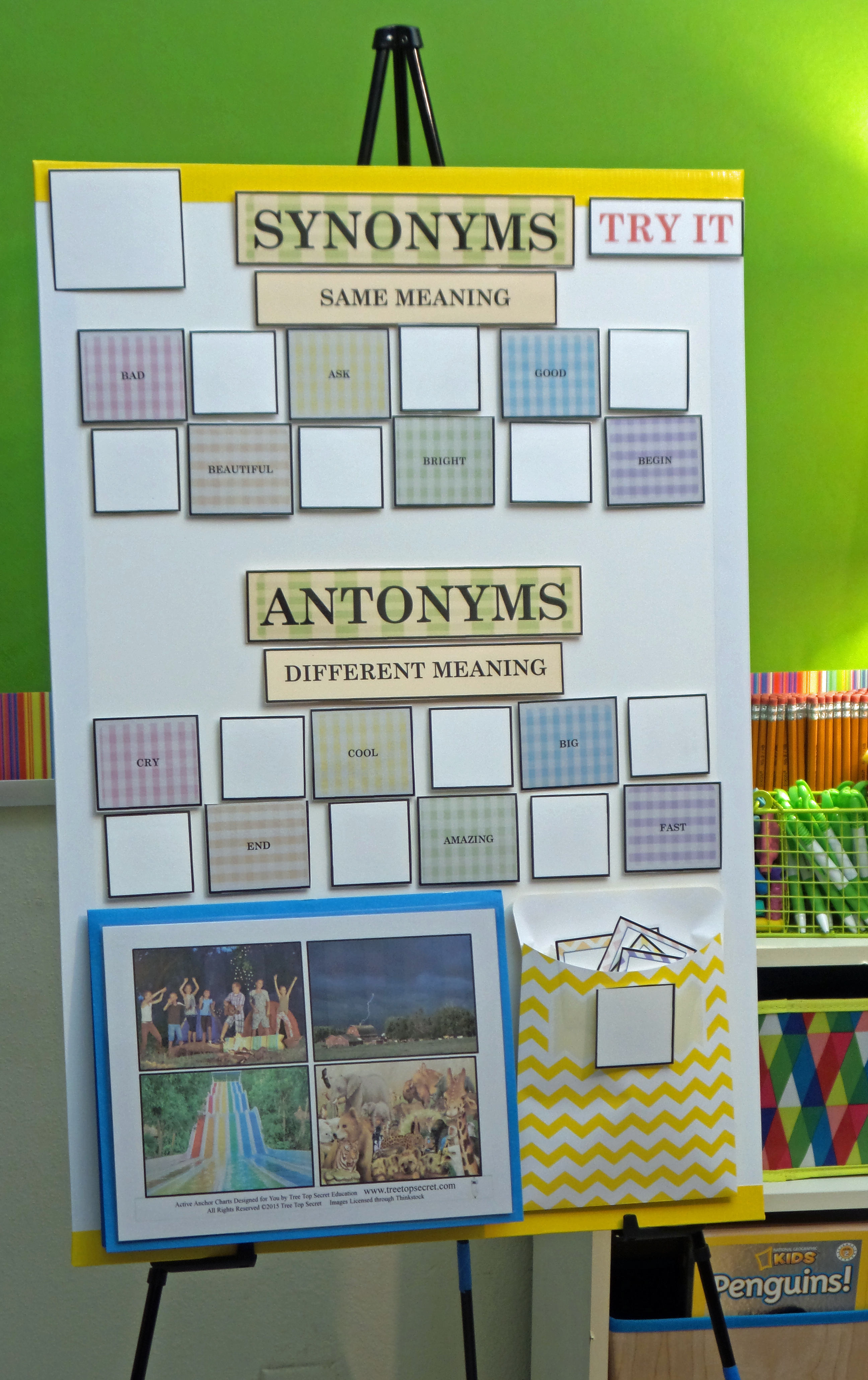 Active Anchor Chart Synonyms